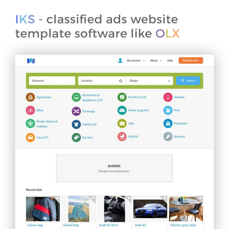 Iks Clified Ads Website Template